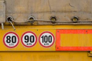 Geschwindigkeitsüberschreitung mit einem LKW