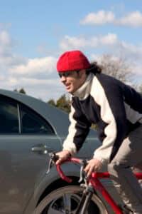 Vorfahrt eines Radfahrers