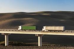 Ein Abstandsvergehen bei LKW