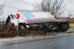 Unfall eines LKW mit Gefahrguttransport