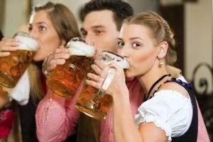 Nach Genuss von Alkohol sollte kein Fahrrad gefahren werden.