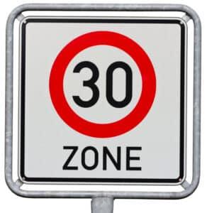 Das Verkehrsschild für die Tempo-30er-Zone