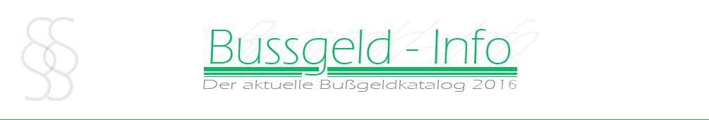 Bussgeld-Info.de – Bußgeldkatalog 2016 header image