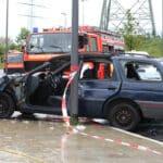 Bei einem schweren Unfall ist schnelle Hilfe wichtig. Das eCall-System soll dies leisten.