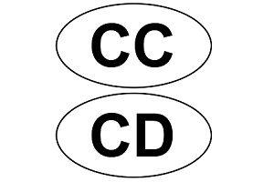 Für Diplomatenkennzeichen gibt es das CC- und CD-Zusatzschild.