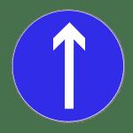 Zeichen 209-30: Fahrtrichtung geradeaus