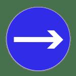 Zeichen 211: Fahrtrichtung rechts