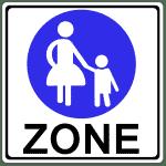 Zeichen 242-1: Fußgängerbereich