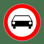Zeichen 251: Verbot Kraftwagen und mehrspurige Kfz
