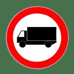 Zeichen 253: Verbot Kraftfahrzeuge über 3,5t