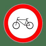 Zeichen 254: Verbot Radverkehr