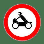 Zeichen 255: Verbot Krafträder, Kleinkrafträder, Mofas
