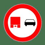 Zeichen 277: Überholverbot Kraftfahrzeuge über 3,5t