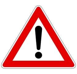 Hinweisschilder drücken zumeist eine Warnung vor einer Gefahrenstelle aus.