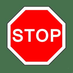 """Das Vorschriftszeichen """"Halt und Vorfahrt gewähren""""  (206) ist auch bekannt als Stoppschild."""