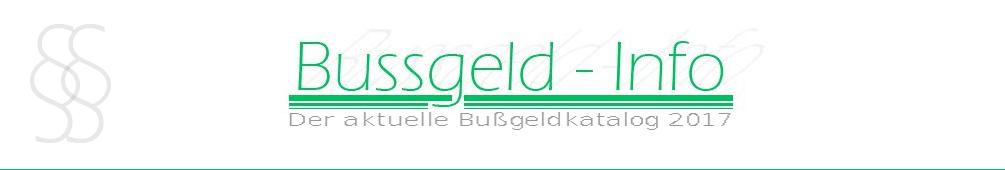 Bussgeld-Info.de – Bußgeldkatalog 2017 header image