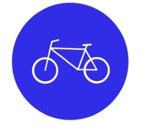 Radfahrstreifen: Die Markierung erfolgt auch durch das Zeichen 237.