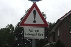 Bei einem Radweg kann die Pflicht zur Nutzung entfallen, wenn dies nicht zumutbar ist oder eine Gefährdung darstellt.