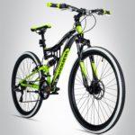 fahrrad sportlich schwarz grün