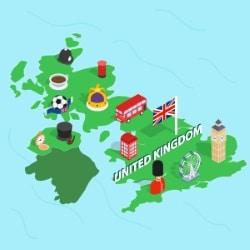 Grundsätzliche Verkehrsregeln für UK, gelten in fast allen Landesteilen.