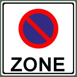 Halteverbotszone: Dieses Schild markiert den Anfang der Zone.