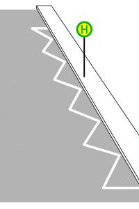 Das Parkverbot an einer Bushaltestelle ist oft durch gezackte Linien auf der Straße gekennzeichnet.