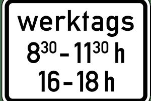 Ein Parkverbot mit Zeiteinschränkung gilt nur innerhalb des angegebenen Zeitrahmens. Davor und danach dürfen Sie hier parken.