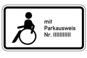 Parkausweis für Behinderte: Gewisse Voraussetzungen müssen erfüllt sein, um auf einem nummerierten Behindertenparkplatz zu parken.