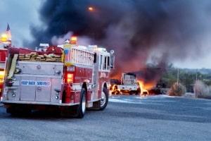 Das LKW-Fahrverbot am Samstag gilt nicht für Rettungsfahrzeuge.
