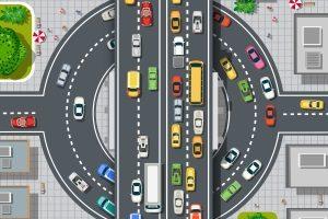 Zweispuriger Kreisverkehr: Den Regeln nach müssen Sie sich rechtzeitig einordnen.