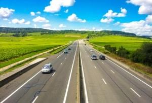 Die Europastraße 3 in Frankreich ist ein Beispiel für eine ausschließlich nationale Verbindung im Straßennetz.
