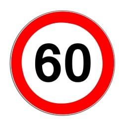 Die Geschwindigkeitsbegrenzung kann außerorts durch ein Tempolimit zusätzlich beschnitten werden.