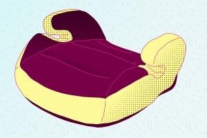 Ein Kindersitz ohne Rückenlehne sollte über Führungshörner verfügen.