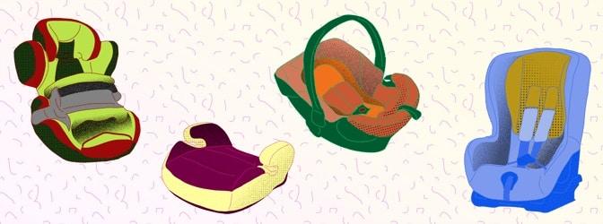 Pflicht zum Kindersitz besteht in verschiedener Form. Welche Typen und Altersklassen gibt es?