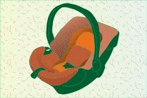 So kann ein fürs Auto gedachter Babysitz aussehen.