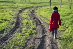 Die Geschwindigkeit muss dem Feldweg entsprechend angepasst werden.