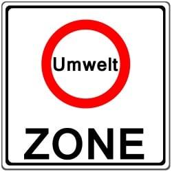 In fast jeder Umweltzone sind nur noch Kfz mit der grünen Umweltplakette erlaubt.