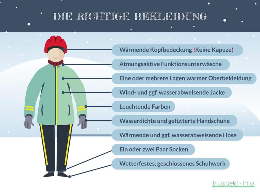 Fahrrad im Winter: Checkliste zur richtigen Bekleidung