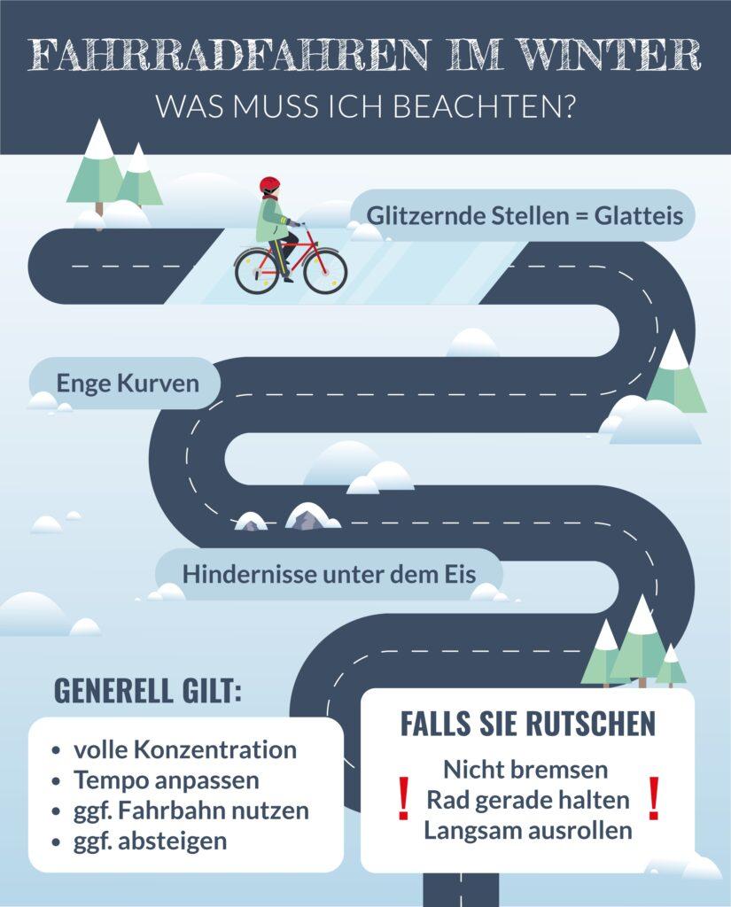 Fahrrad im Winter: Checkliste für die richtige Fahrweise