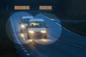 Bei jeder Brückenabstandsmessung kommt es auch auf die Geschwindigkeit an.