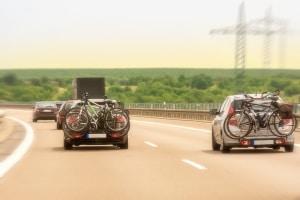 Ein Mehrverbrauch ist beim Fahrradträger am Auto nicht zu vermeiden.