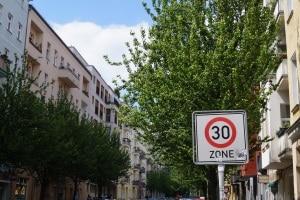 50er Zone: Das Schild ist das gleiche wie für die 30er Zone.