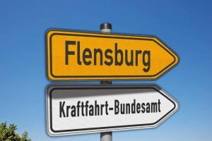 Folgen dem Blitzen Punkte, so werden diese im Fahreignungsregister in Flensburg gespeichert.