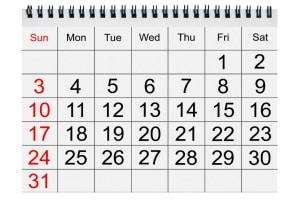 30 Tage oder 4 Wochen? Beim Fahrverbot beträgt der Zeitraum immer einen Monat.