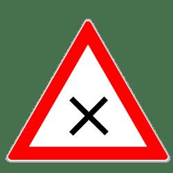 Verkehrszeichen 102: Kreuzung oder Einmündung mit Vorfahrt von rechts