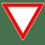 Verkehrszeichen 205: Vorfahrt gewähren!