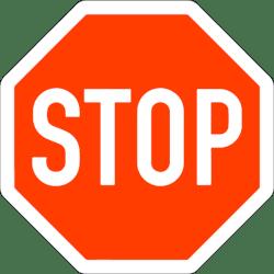 Verkehrszeichen 206: Halt! Vorfahrt gewähren!