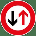 Verkehrszeichen 208: Vorrang des Gegenverkehrs
