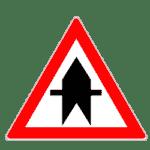 Verkehrszeichen 301: Vorfahrt an der nächsten Kreuzung oder Einmündung