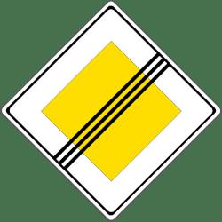 Verkehrszeichen 307: Ende der Vorfahrtsstraße